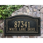 Arbor Address Plaque - Wall Style